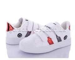 Кеды Violeta Y26-B2109 white-red