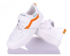 Кеды Violeta Q45-M132 white-orange