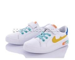 Кеды Violeta Y8-7729 white-yellow