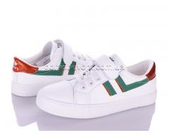 Кеды Violeta Q60-M150 white-green