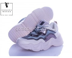 Кроссовки Violeta 166-5 white-grey