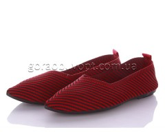 Слипоны Violeta 45-91 red-black
