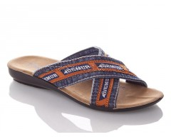 Шлепанцы DeMur W3065-blue orange
