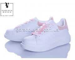 Кроссовки Violeta 20-657 white-l.pink