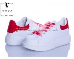 Кроссовки Violeta 20-657 white-red