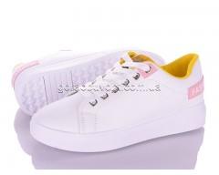 Кеды Violeta 80-73 white-yellow