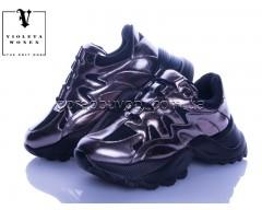 Кроссовки Violeta 166-14 black-silver